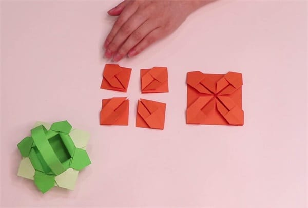 How to fold the flower basketnum