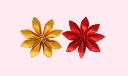 Eight Petal Flower Origami Tutorial
