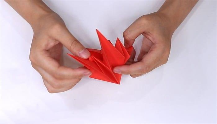 Lily flower origami tutorialnum