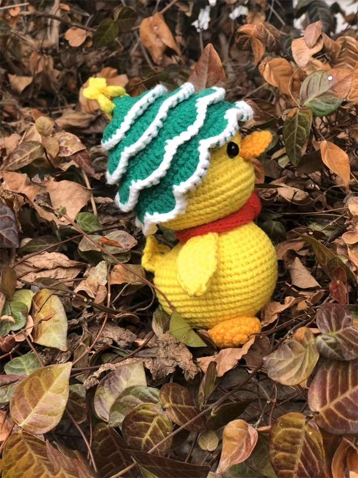 Little yellow duck woven dollnum
