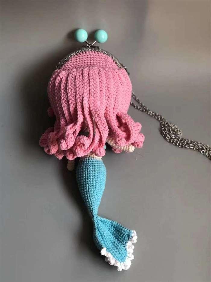 Super cute woven mermaid bagnum