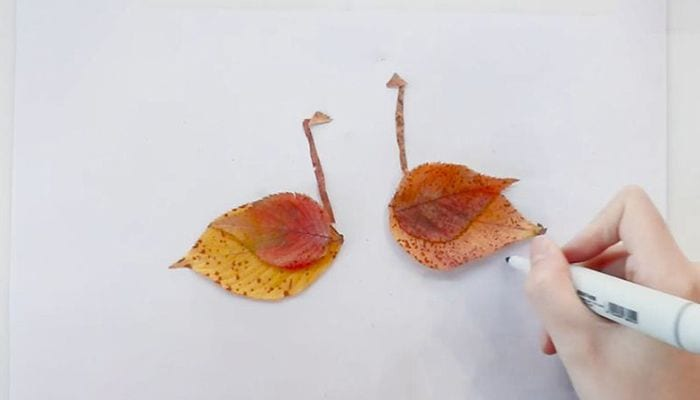 Leaf Sticker Swan Tutorialnum