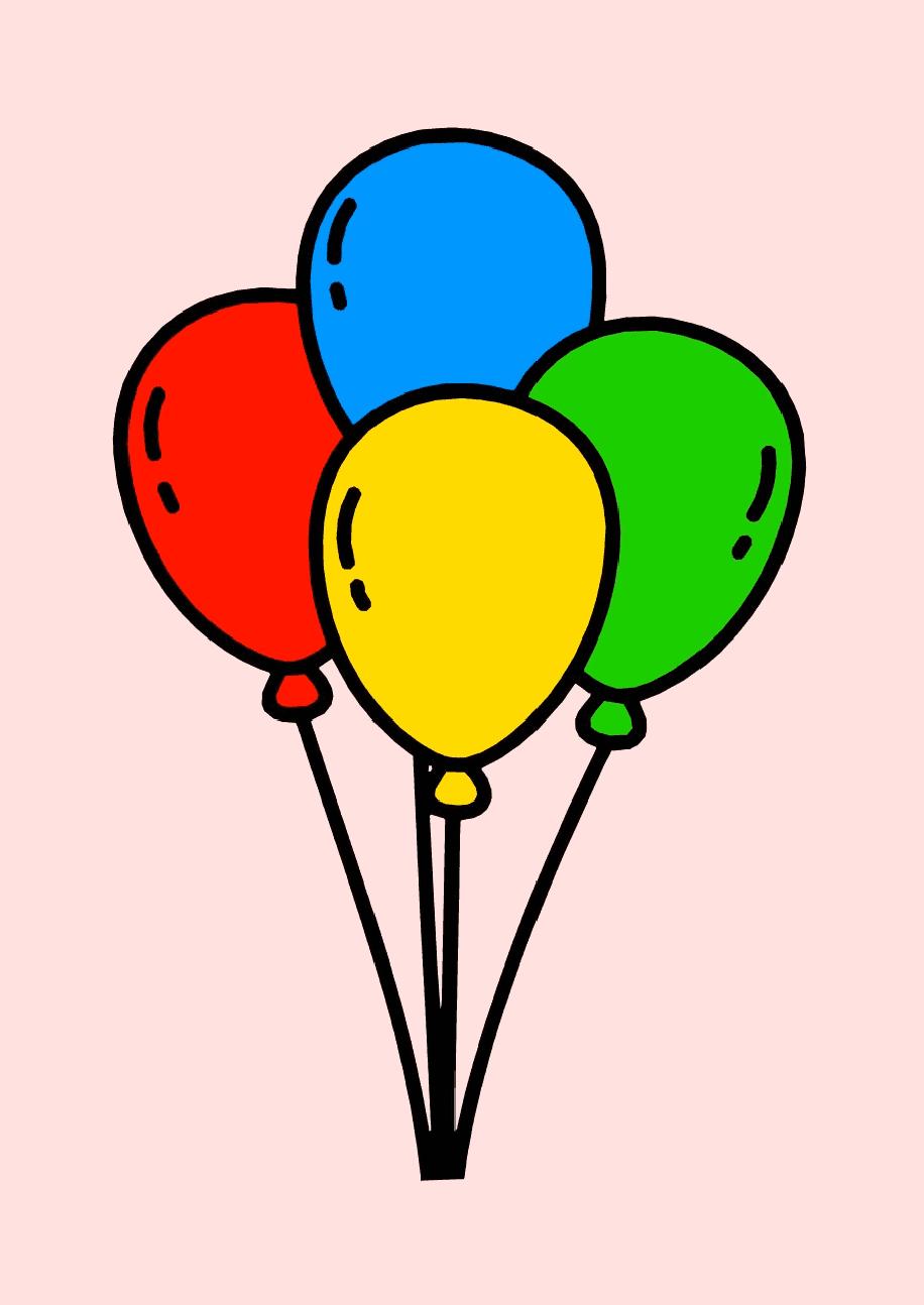 Coloring easy balloonnum